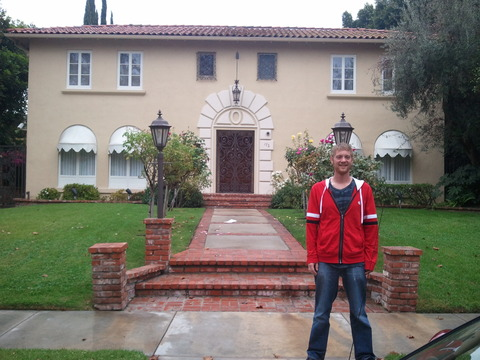 Steve at the 'Baby Jane' house in LA: 172 McCadden Place.