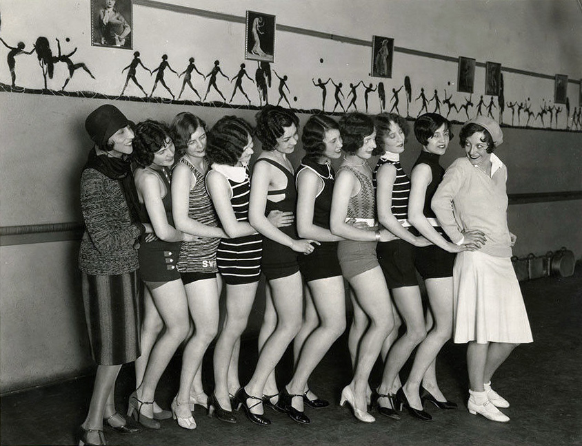 Circa 1928. Publicity with fellow flappers.