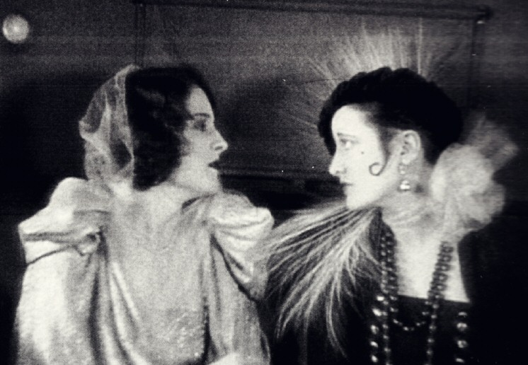 1925. Film still from 'Lady of the Night.' Joan as Norma Shearer's uncredited double.