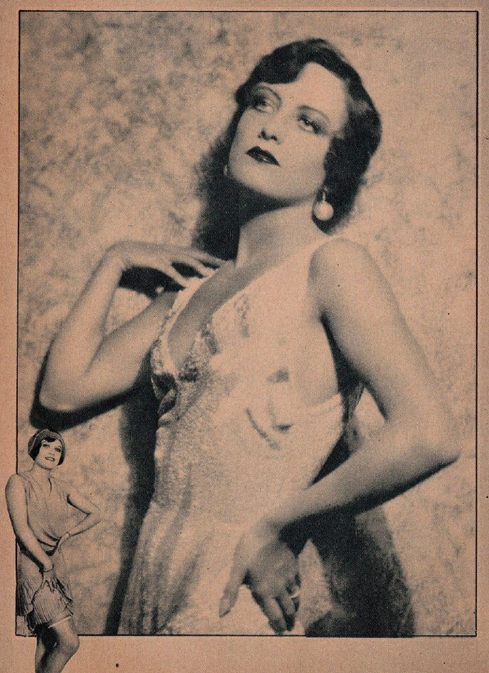 1928, shot by Ruth Harriet Louise. (Page from unknown magazine.)
