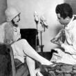 1926. With shoe designer Salvatore Ferragamo.