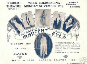 A herald for a New Jersey performance of 'Innocent Eyes' in Nov. 1924, 3 months after Joan ended her run with the show in NYC.