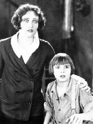 With Jackie Coogan.