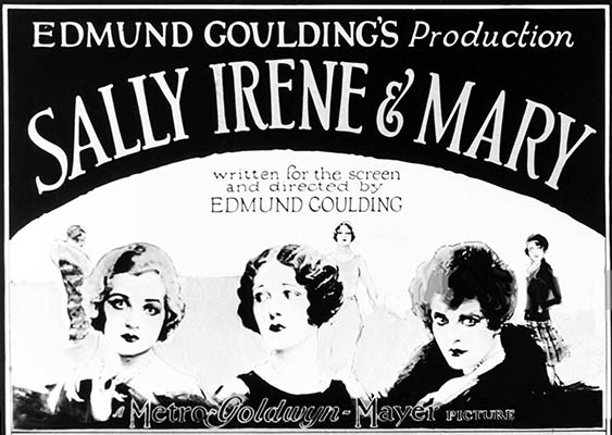 US poster for 'Sally, Irene, and Mary.'
