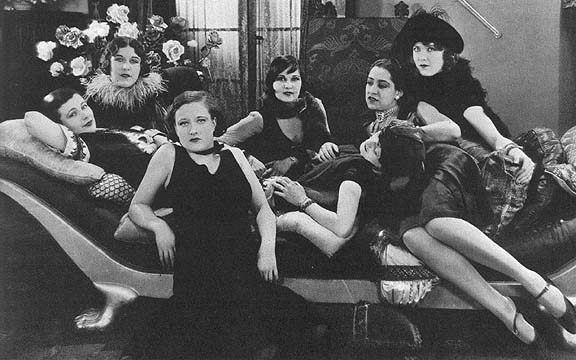 1926, 'Paris.' Joan with real-life Parisian prostitutes.