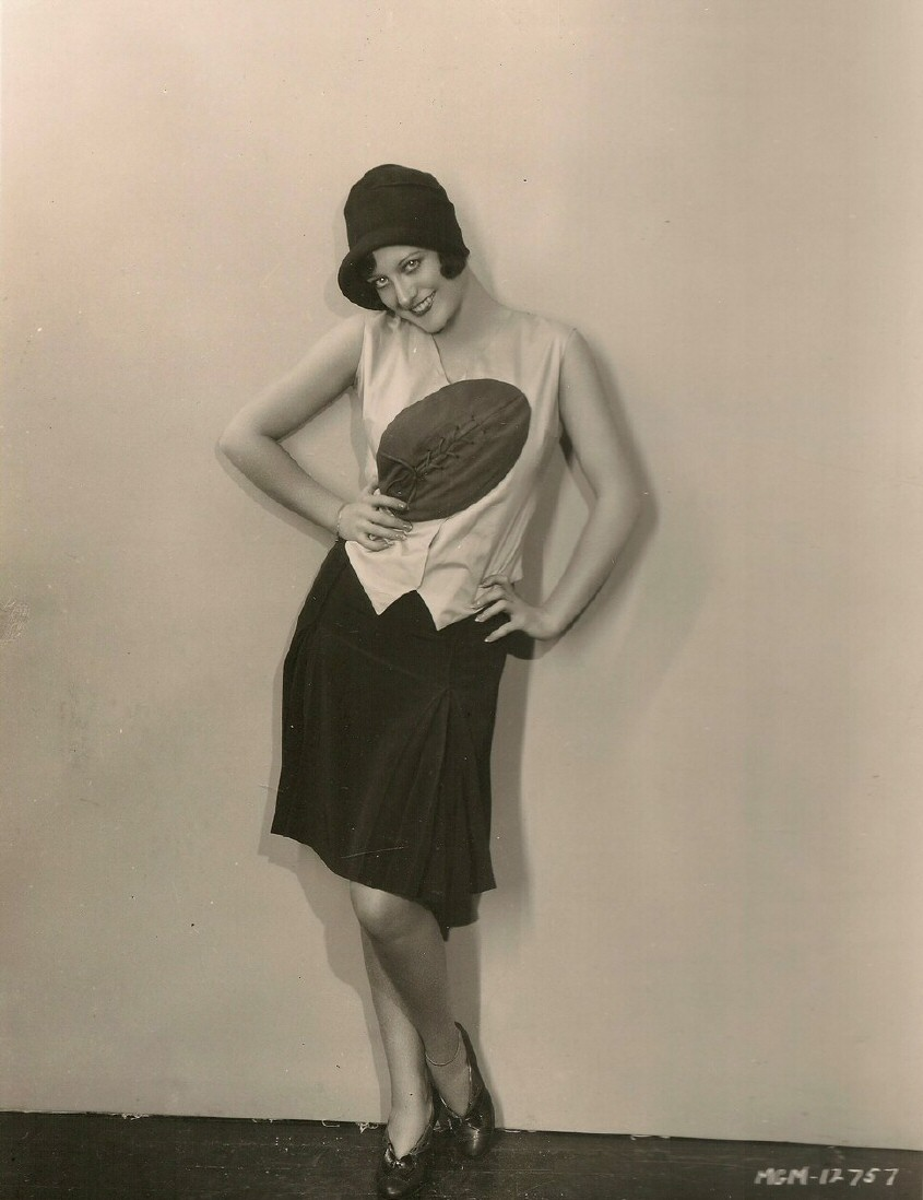 1927 publicity in football dress.