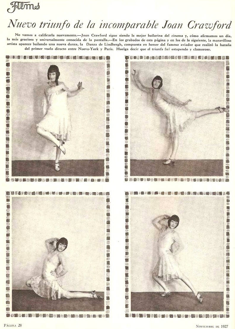 1927. Doing the Lindy Hop. From an unknown Argentinean magazine.