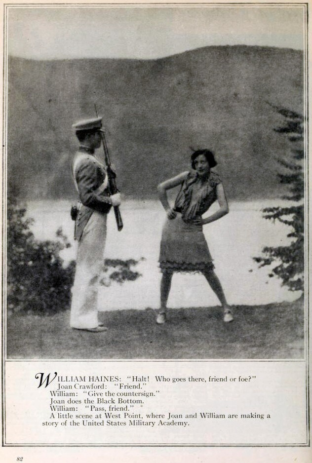 Page from the November 1927 'Photoplay' with a tease for the upcoming 'West Point.'