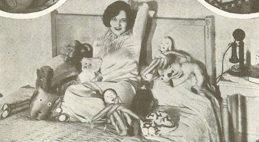 At home with dolls, from a 1927 'Picture Play' magazine.