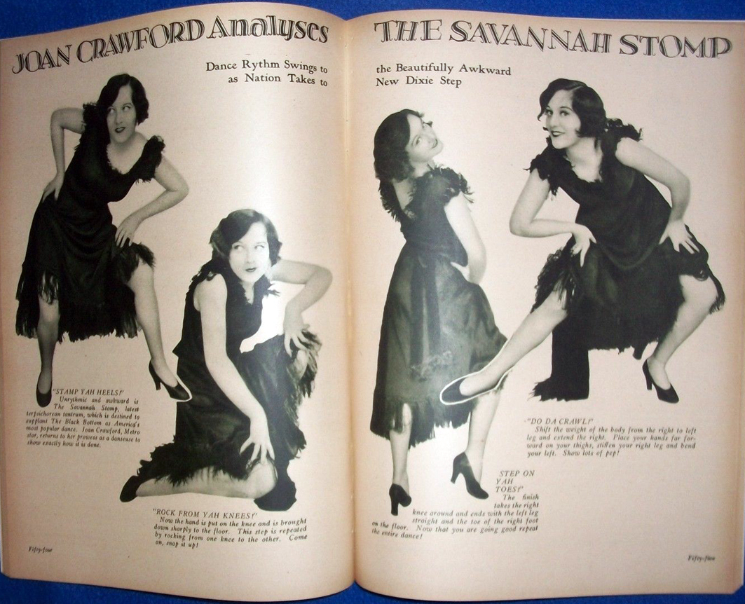 A 1927 issue of 'Screen Secrets' featuring the 'Savannah Stomp.' (Also known as the 'Black Bottom.')