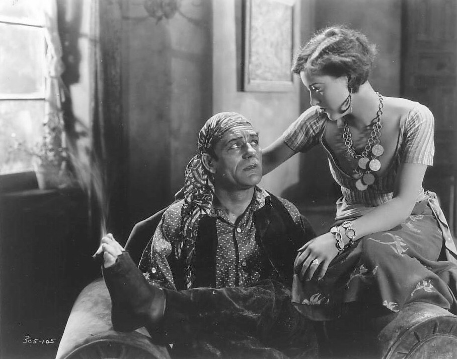 1927. In 'The Unknown' with Lon Chaney.