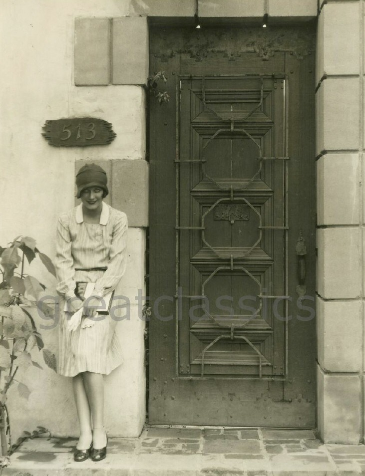 1928. In front of her new house at 513 N. Roxbury. Shot by Ruth Harriet Louise.