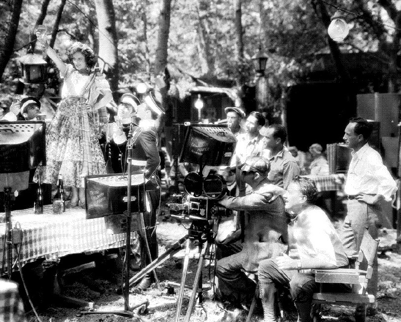 1928. On the 'Dream of Love' set.