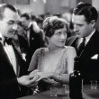 1928. 'Four Walls.' With Louis Natheau and John Gilbert (right).