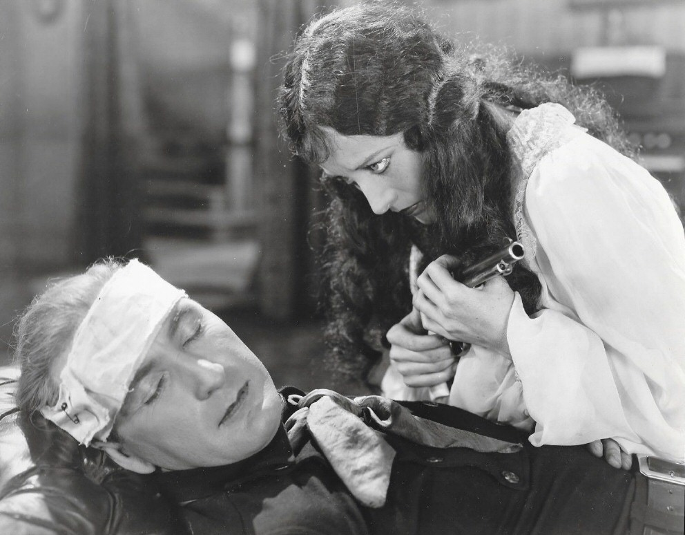 1928. Film still from 'Law of the Range' with Tim McCoy.