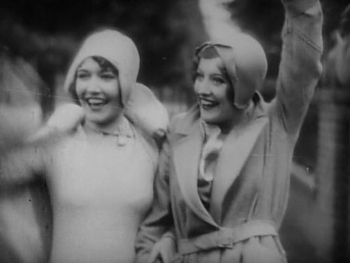 1928. 'Our Dancing Daughters' screen shot with Dorothy Sebastian.