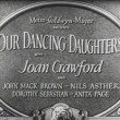 1928. Title screen shot for 'Our Dancing Daughters.'