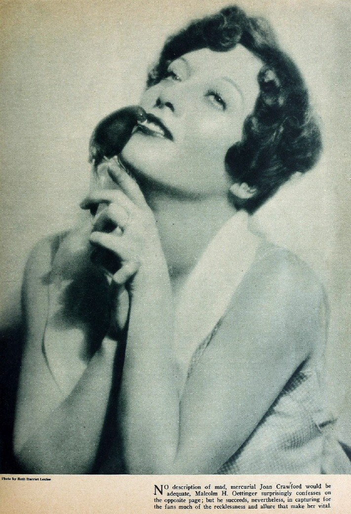 1928 publicity by Ruth Harriet Louise, appearing in 'Picture Play' magazine.