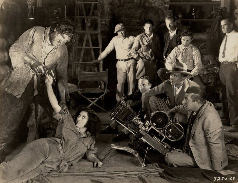 1928. Filming a scene from 'Rose-Marie.'