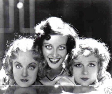 With Josephine Dunn, left, and Anita Page.