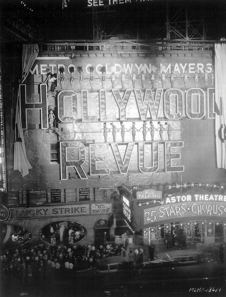August 14, 1929. NYC premiere of 'Hollywood Revue of 1929' at the Astor Theatre.