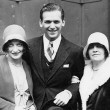 6/10/29. Back in Los Angeles after the wedding. With Joan's mother, right.