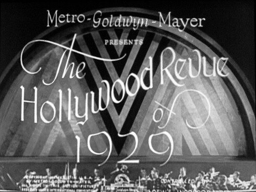 'Hollywood Revue of 1929' title screen shot.