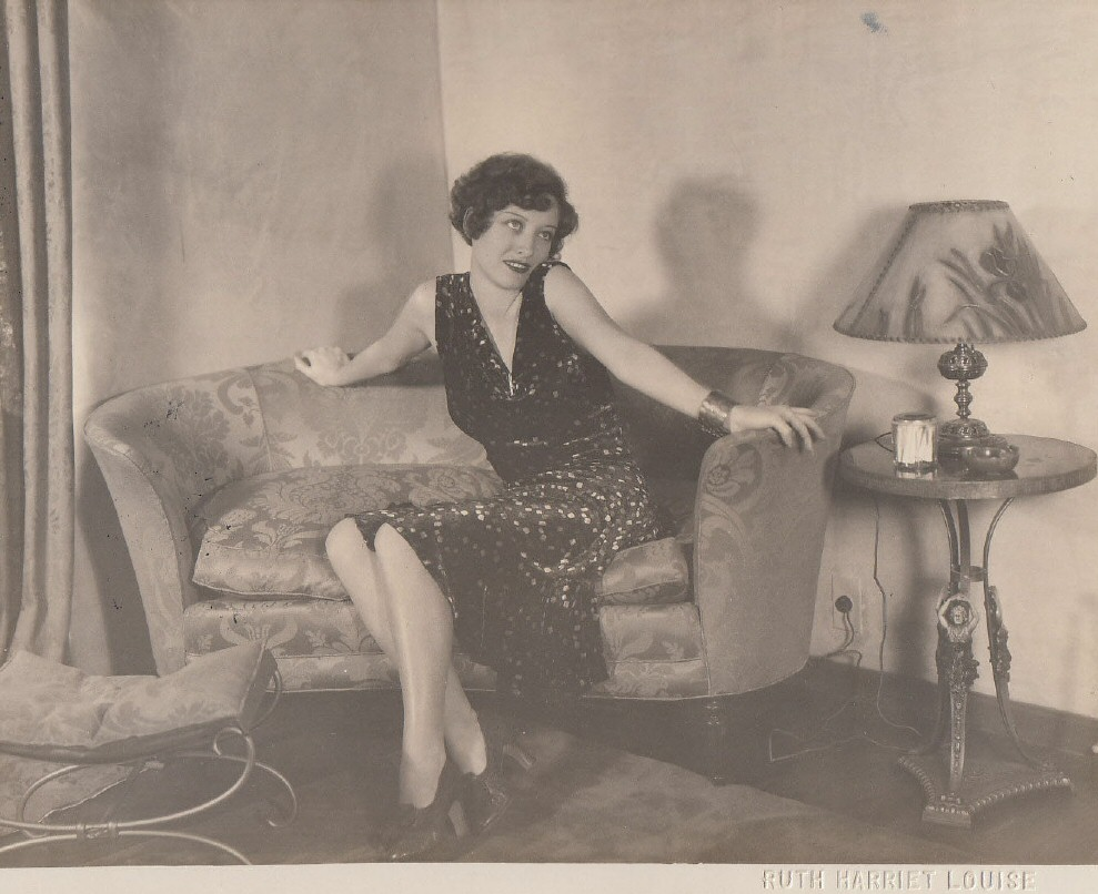 1929. Joan at home, shot by Ruth Harriet Louise.