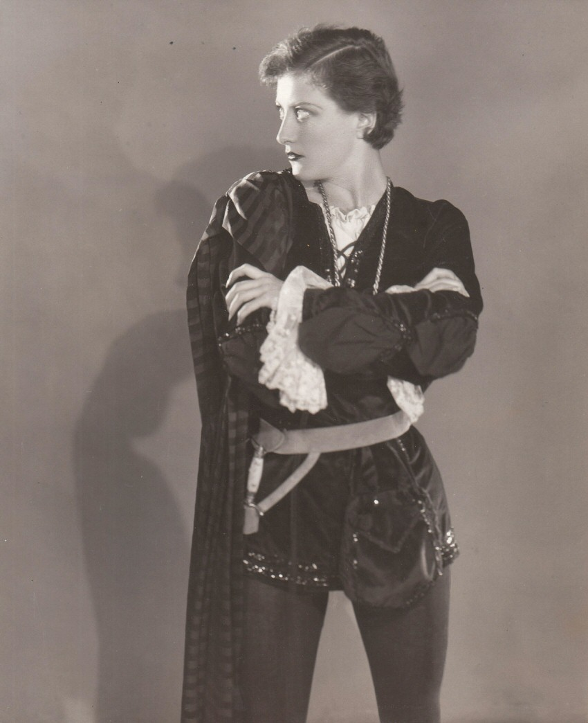 1929. Joan as Hamlet. Shot by Ruth Harriet Louise.