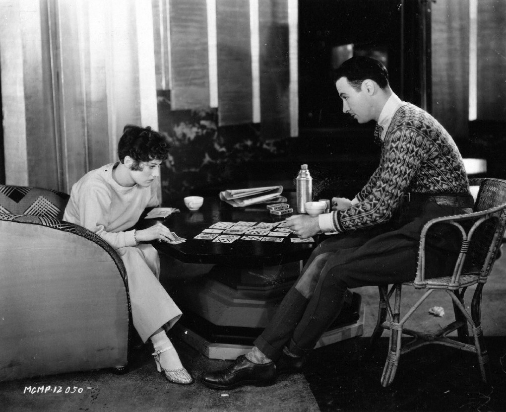 1929. On the set of 'Our Modern Maidens' with Rod LaRocque.