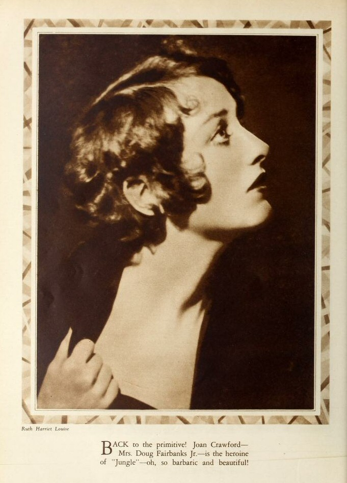 1929. Publicity for 'Screenland' by Ruth Harriet Louise.