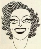 Caricature appearing in the February 1930 'New Movie' magazine.