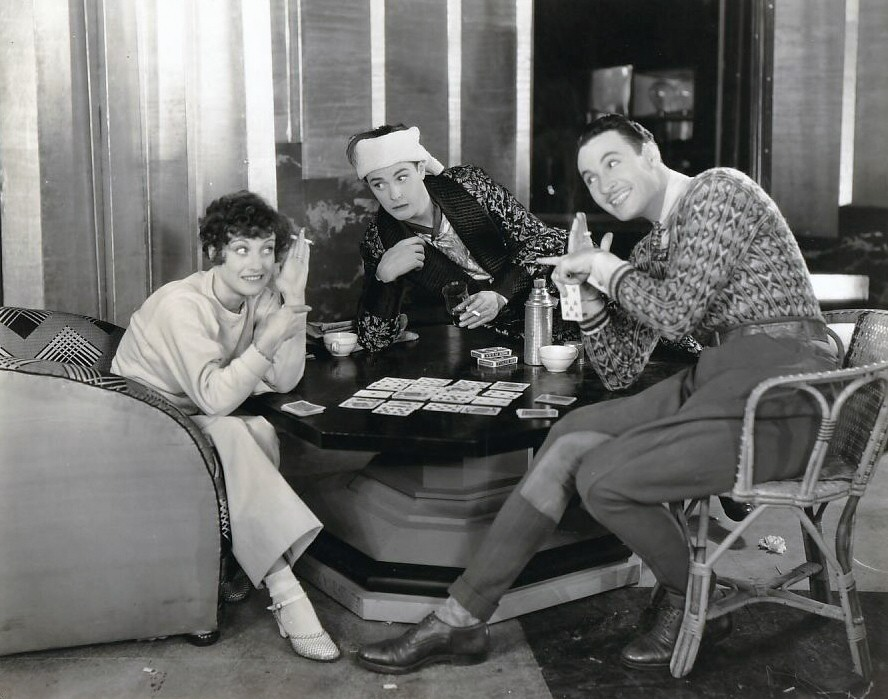 1930. On the set of 'Our Modern Maidens' with Eddie Nugent (center) and Rod La Rocque.