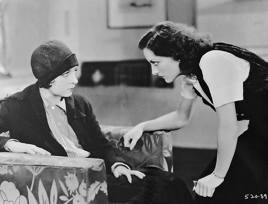 1930. A film still from 'Paid.'