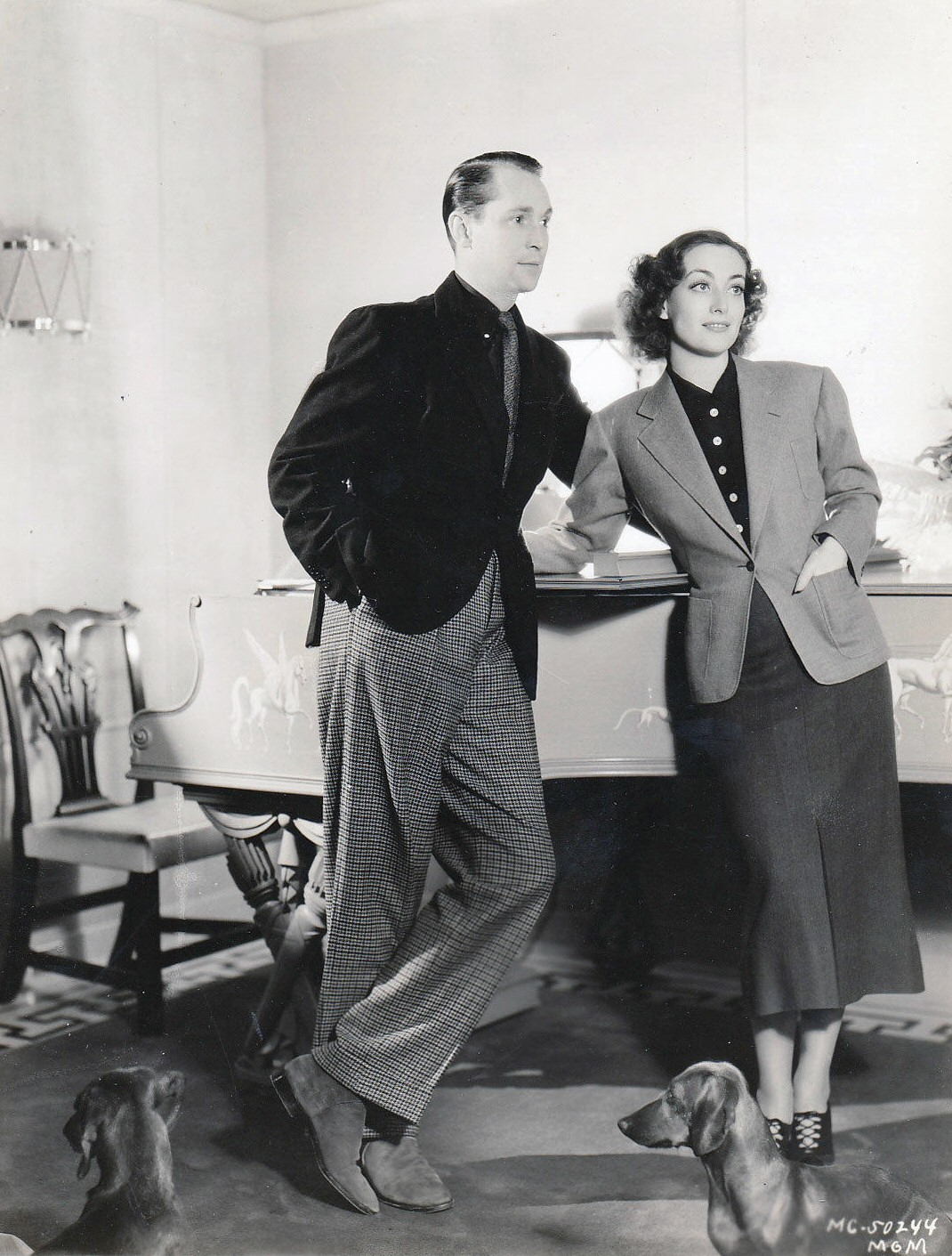 1936. Joan and Tone at home.