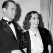 Circa 1936, with husband Franchot Tone.