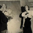 1932. Posing for Spanish artist Federico Beltran-Masses.