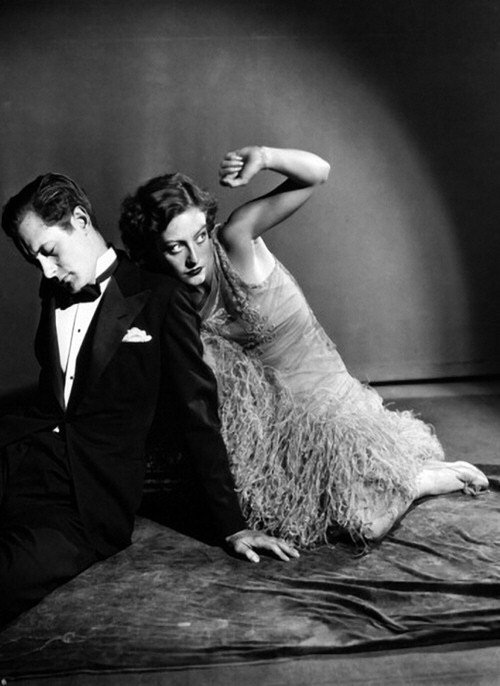 1929. 'Untamed' publicity, with Robert Montgomery.