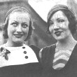 Circa 1931. Joan with Claudette Colbert.