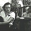 1931, by Hurrell. In her studio dressing room with a photo of Marlene Dietrich's daughter!