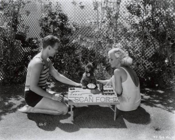July 1931, with Doug and puppy friend.