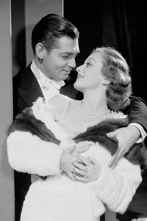 1931. 'Possessed' publicity with Clark Gable.
