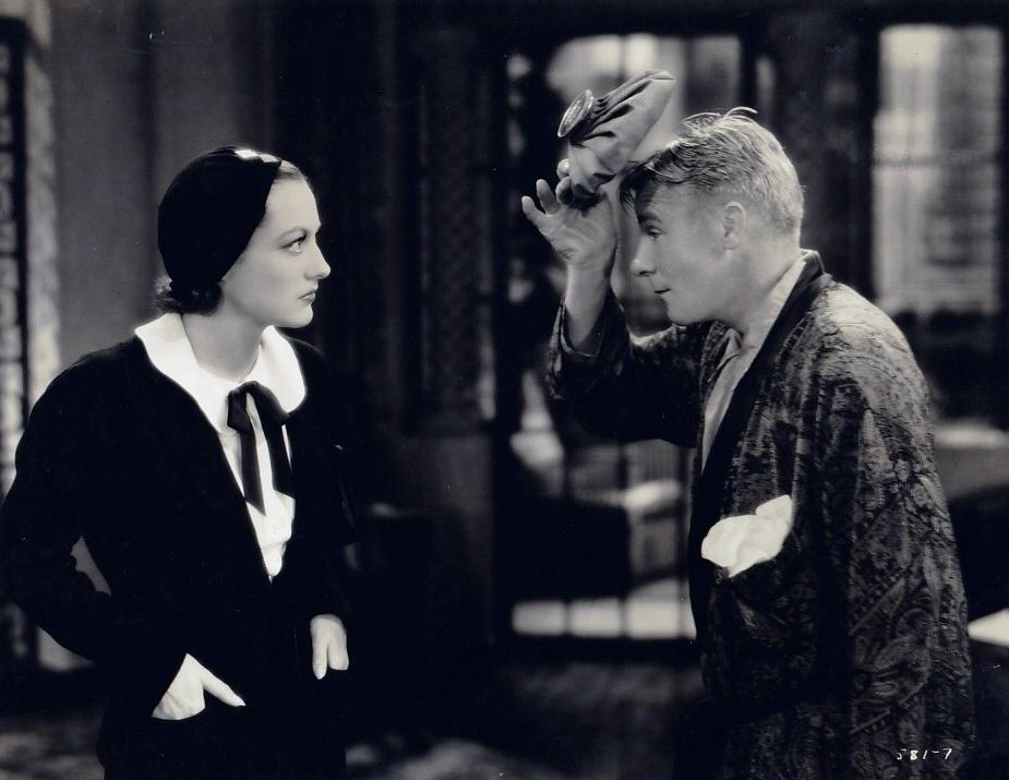 1931. A film still from 'Possessed' with Skeets Gallagher.
