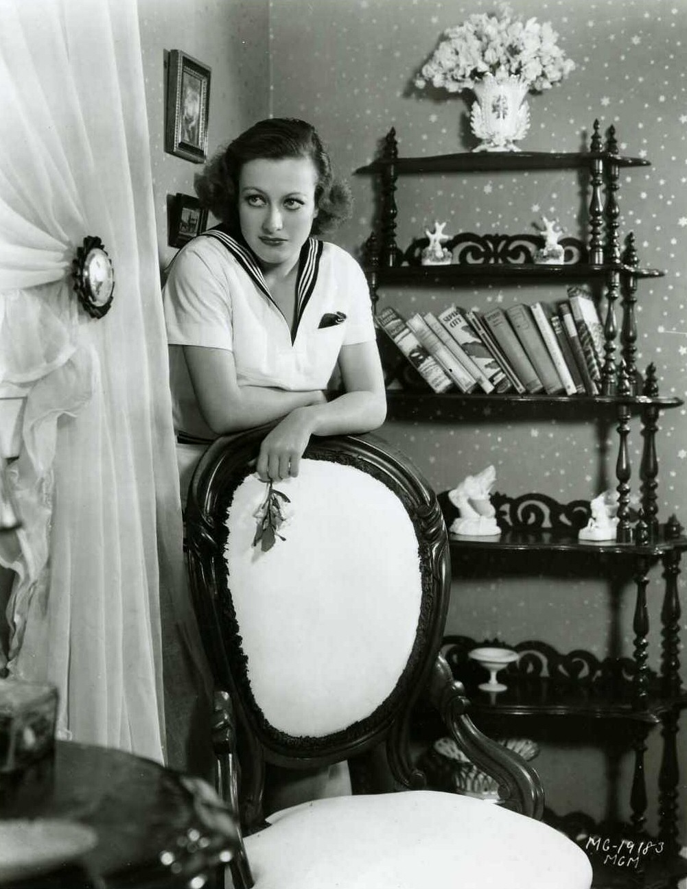 1931. In her studio dressing room. Shot by Hurrell.