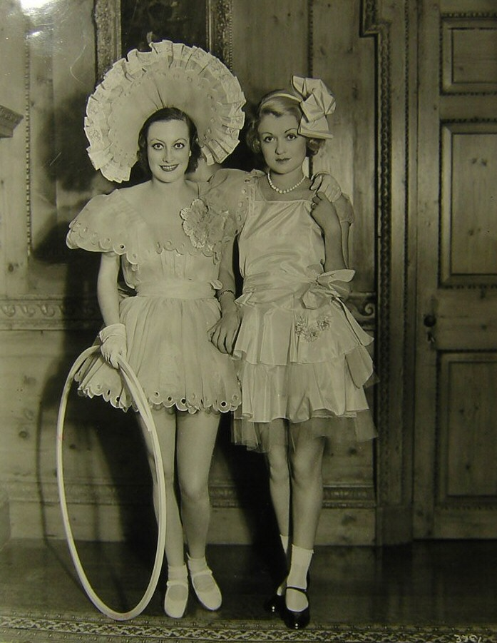 1932. With Constance Bennett at Marion Davies' 'Kiddie Party.'