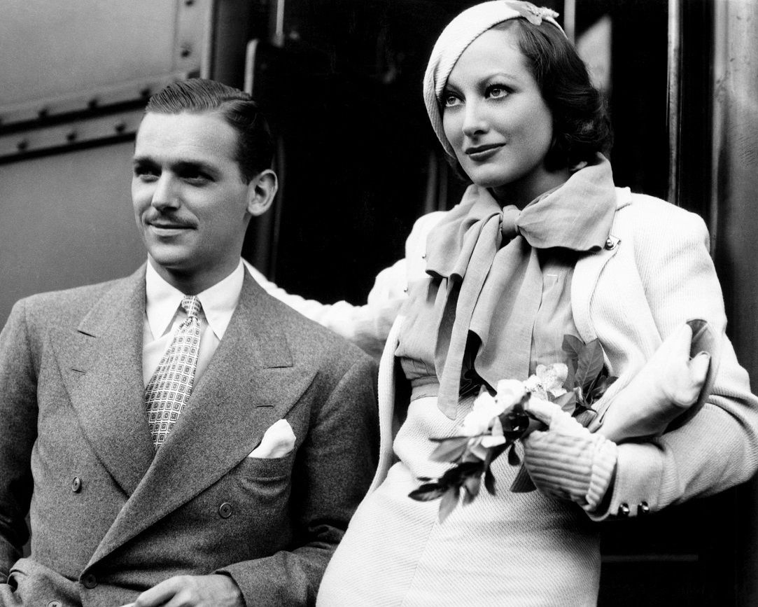 Summer 1932. With Doug Fairbanks, Jr., back in California after their belated European honeymoon.