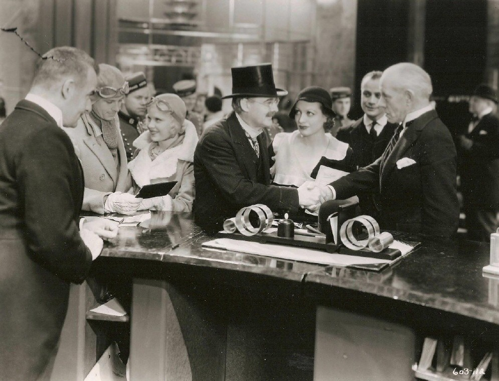1932. 'Grand Hotel.' With Lionel Barrymore, center.