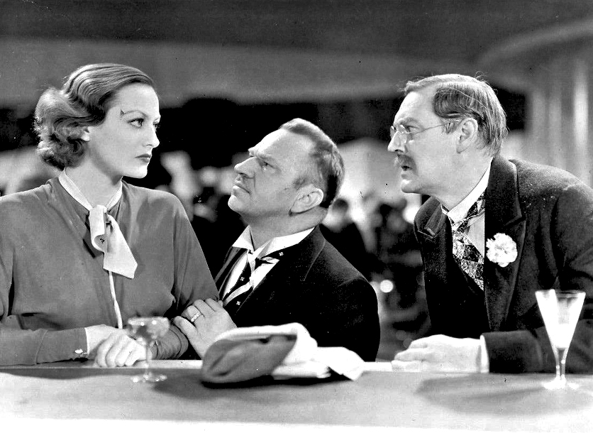 1932. 'Grand Hotel..' With Wallace Beery (center) and Lionel Barrymore.