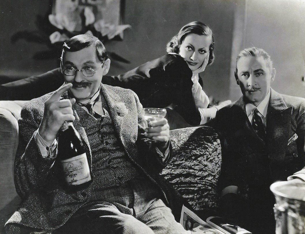 1932. 'Grand Hotel.' With Lionel Barrymore (left) and John Barrymore.