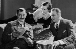 From left: Lionel Barrymore, Joan, John Barrymore on the set of 'Grand Hotel.'